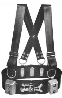 Miller Diving Commercial Weight Belt Shown with optional shoulder straps